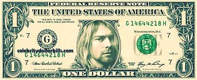 kurt cobain one dollar usa