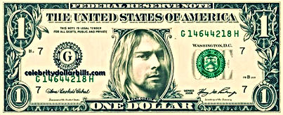 kurt cobain one dollar usa