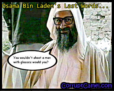 osama bin laden joke his last words