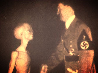 alien with adolf hitler