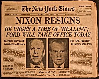 nixon resigns new york times