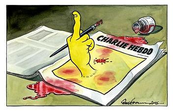 charlie hebdo finger to terrorists