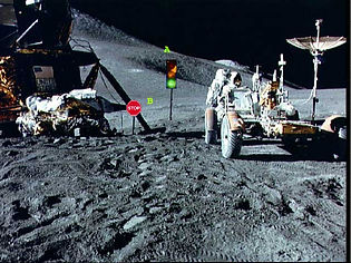 moon traffic signs