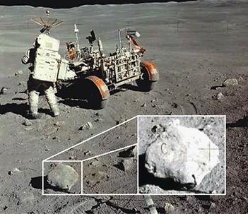 moon hoax rock