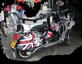 vespa px union jack paul weller custom scooter