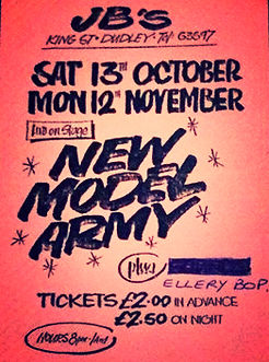 NEW MODEL ARMY JBS DUDLEY £2.00 IN ADVANCE