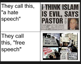 hate speech free speech zone