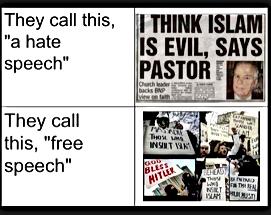 hate speech free speech zone