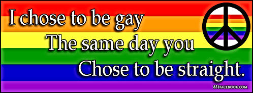lgbt i chose to be gay the same day you chose to be straight
