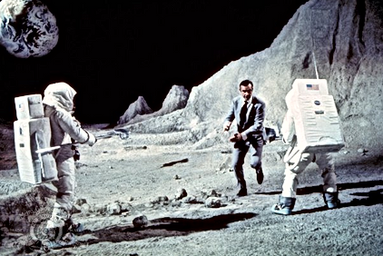 james bond on moon