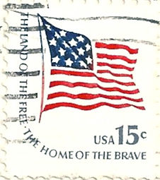 usa postage stamp 15c the land of the free the home of the brave