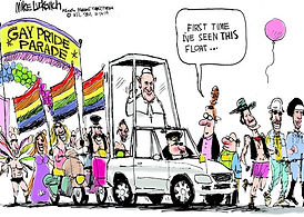 lgbt gay pride parade the pope