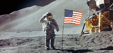 apollo 15 salute the flag