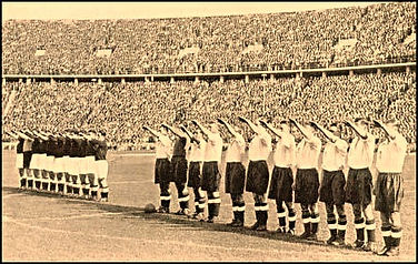 The england team give the nazi salute in 1938