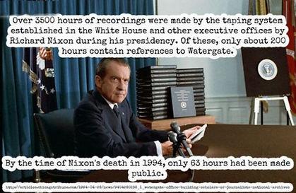 nixon tapes 3500 hours