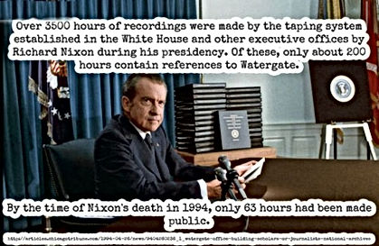 nixon tapes 3500 hours