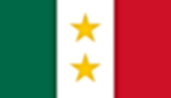 mexico flag with two stars that represent mexican texas and coahuila separate states