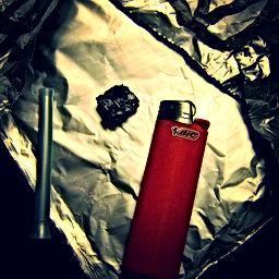 inhaling heroin