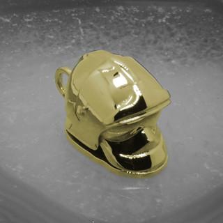 Gelbgold Anhänger Feuerwehrhelm002