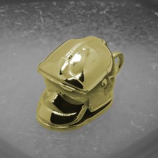 Gelbgold Anhänger Feuerwehrhelm001