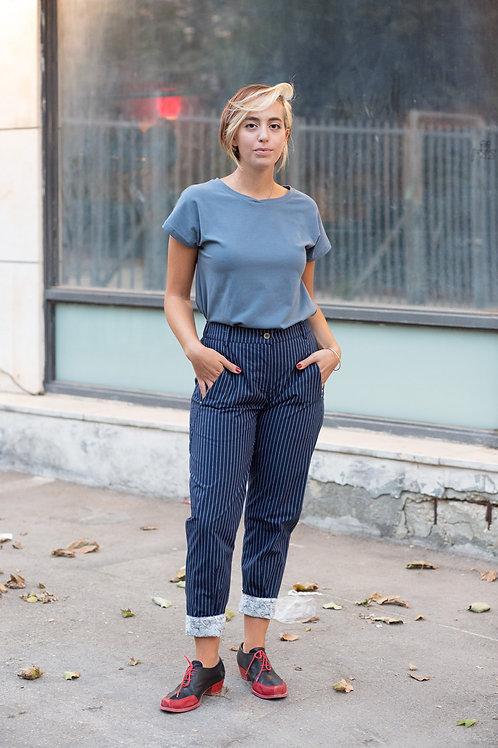 חולצת הילה - כחול אפרפר