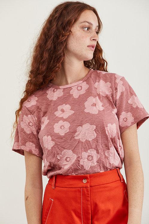 חולצת דבי - ורוד פרחים