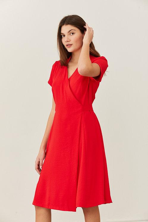 שמלת איילת - אדום