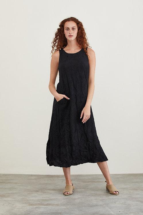 שמלת מוניקה - שחור