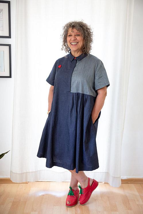 שמלה טליה - ג'ינס
