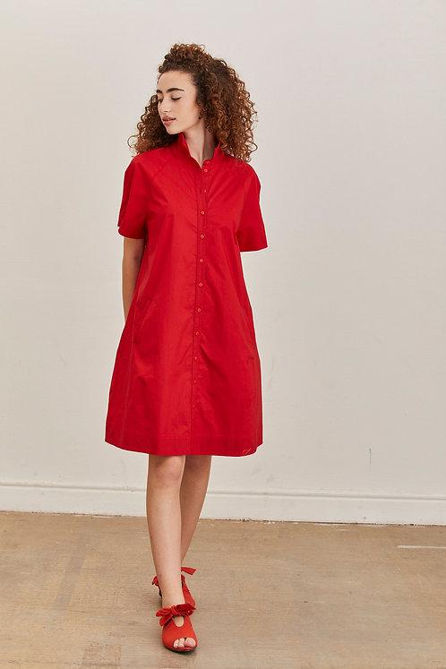 שמלת לורה אדומה