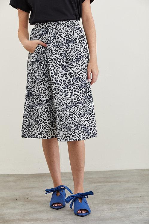 חצאית קרלי - הדפס מנומר