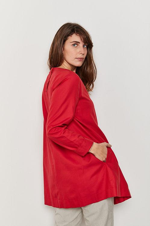 חולצת איזבל - אדום וורוד