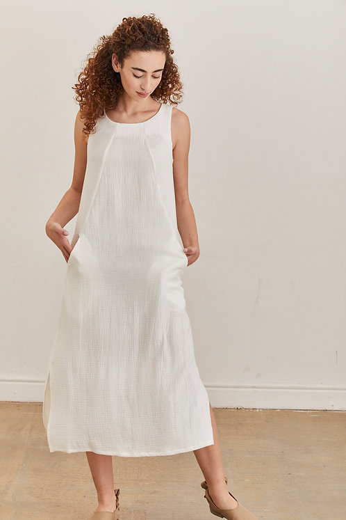שמלת מוניקה - לבן