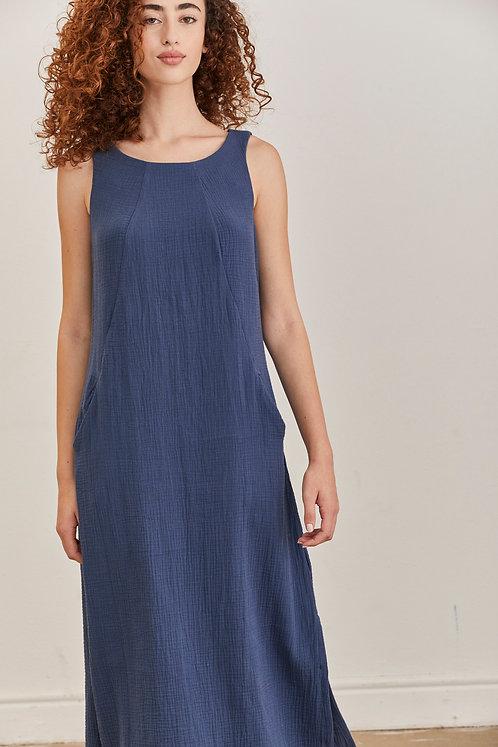שמלת מוניקה - כחול