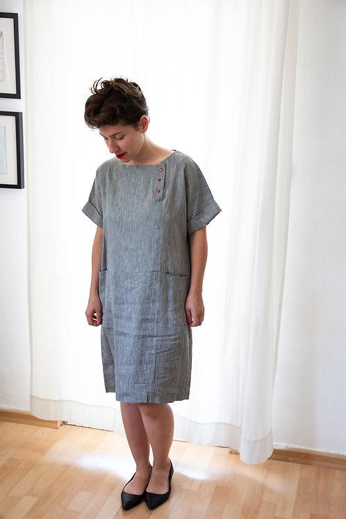 שמלת גבי - אפור
