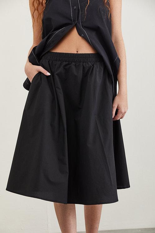 חצאית קרלי - שחור