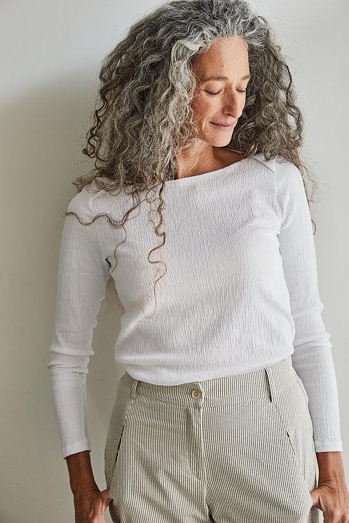 חולצת גלי - לבן
