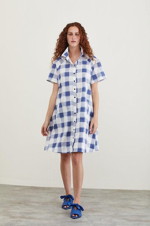 שמלת לורה - משבצות