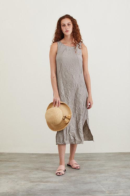 שמלת מוניקה - אפור אבן