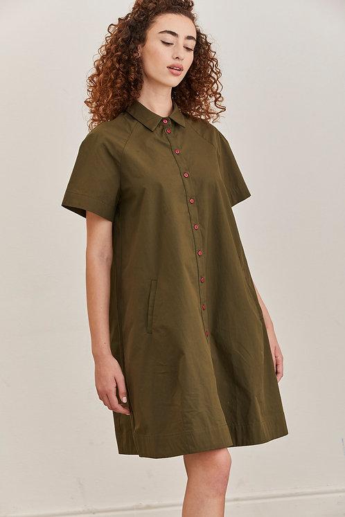 שמלת לורה ירוק זית