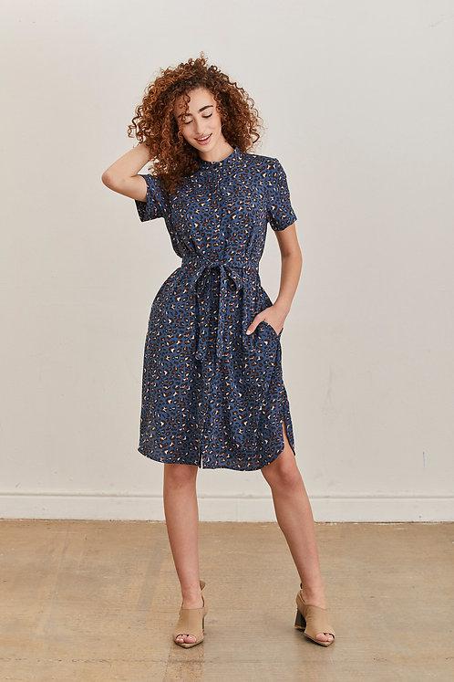שמלת אפי - כחול מנומר