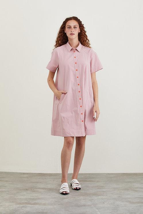שמלת לורה - ורוד