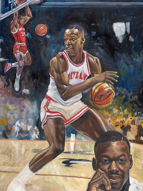LEN BIAS limited edition canvas print 22.5x30