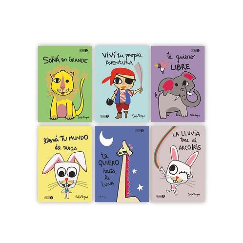 Pack 6 Postales Ilustradas Por Sofía Eugeni