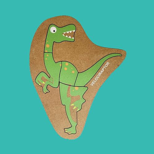 Rompecabezas De Madera Velociraptor