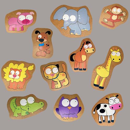 Pack de 11 Rompecabezas Animalitos