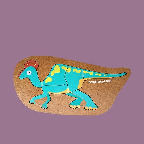 Rompecabezas De Madera Coritosaurio