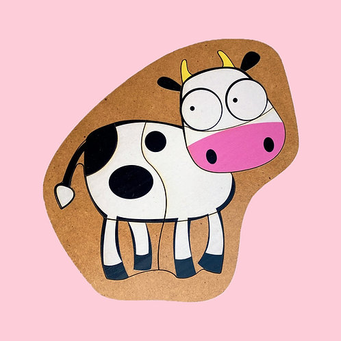 Rompecabezas De Madera Vaca