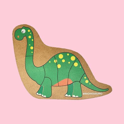 Rompecabezas De Madera Brachiosaurio