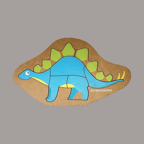 Rompecabezas De Madera Estegosaurio